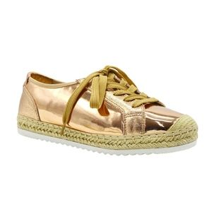 Rose Gold Espadrille Sneakers